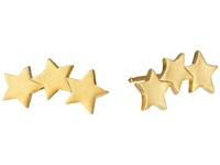Dogeared Three Wishes 3 Star Stud Earrings Gold Dipped Earring