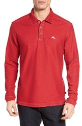 Tommy Bahama Men's Big And Tall 'Emfielder' Long Sleeve Polo Chili Pepper