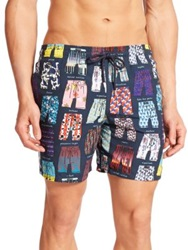 Vilebrequin Moorea Mini Trunks Swim Trunks Navy Multi
