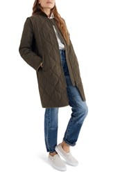 Madewell Quilted Military Coat Kale