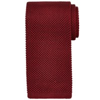 Chester Barrie By Knitted Silk Tie Wine