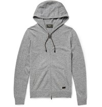 Berluti Leather Trimmed Cashmere Hoodie Gray