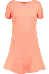 Carven Cotton Blend Jersey Mini Dress Orange