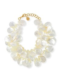 Nest Mother Of Pearl Cluster Necklace