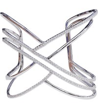 Carat London Trista Sterling Silver And White Gold Cuff Bracelet