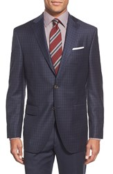 David Donahue 'Connor' Classic Fit Check Wool Sport Coat Navy