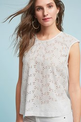 Anthropologie Benjamin Lace Shell White