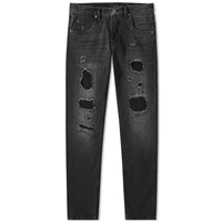 Helmut Lang 87 Destroyed Jean Black