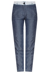 Raquel Allegra Chambray Denim Trousers