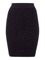Pied A Terre Knitted Jacquard Skirt Multi Coloured