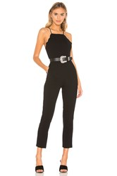 Bcbgeneration Scalloped Ankle Jumpsuit Black