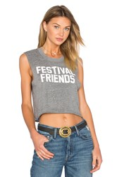 Private Party Festival Friends Top Grey