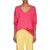Adaptation Candy Cashmere Deep V Neck Sweater Pink
