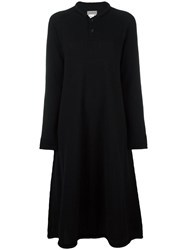 Yohji Yamamoto Vintage Buttoned Collar Dress Black