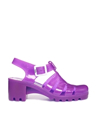 Juju Babe Fluro Purple Heeled Sandals Fluropurple