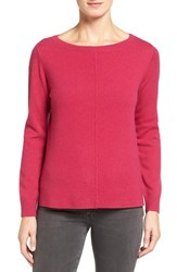Nordstrom Women's Collection Boatneck Cashmere Sweater Pink Vivacious