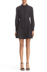 Alexander Wang Women's Lace Detail Fit And Flare Shirtdress