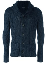 Roberto Collina Cable Knit Cardigan Blue