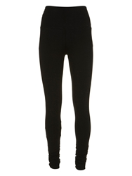 Mint Velvet Ruched Leggings Black