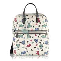 Radley Love Me Love My Dog Large Backpack Bag Ivory