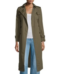 Etoile Isabel Marant Maden Long Cotton Linen Trenchcoat Bronze