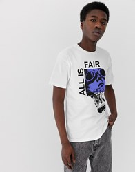Fairplay All Is Fair T Shirt With Chest Print In White
