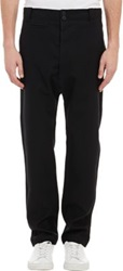Helmut Lang Felted Flannel Drop Rise Pants Black