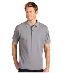Lacoste L1212 Classic Pique Polo Shirt Platinum Men's Short Sleeve Knit Silver