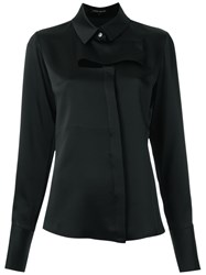 Gloria Coelho Cut Out Shirt Women Polyester Acetate G Black