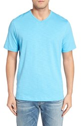 Tommy Bahama Men's Big And Tall Portside Player V Neck T Shirt Scandia Blue