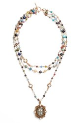 Virgins Saints And Angels Magdalena Multistrand Necklace Nordstrom Exclusive Gold Mixed Quartz