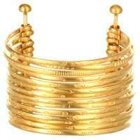 Satya Jewelry Stack Bangle Cuff Full Stack Gold