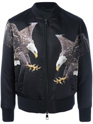 Neil Barrett Eagle Print Bomber Jacket Black