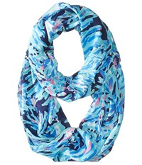 Lilly Pulitzer Riley Infinity Loop Bright Navy Shrimply Chic Scarves Blue