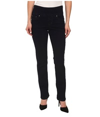 Jag Jeans Petite Peri Pull On Straight In After Midnight After Midnight Women's Jeans Black