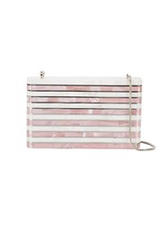 Nathalie Trad Monroe Clutch Women Mother Of Pearl Metal One Size White