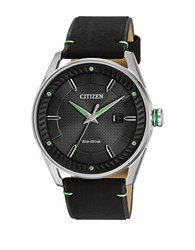 Citizen Drive Stainless Steel And Leather Strap Watch Bm6980 08E