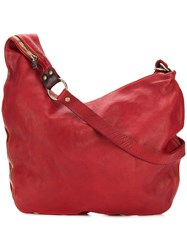 Guidi Large Zipped Crossbody Bag Red