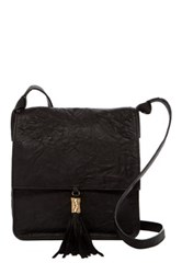 Cynthia Vincent Ema Leather Crossbody Black