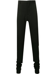 Y Project High Waisted Tailored Trousers Black