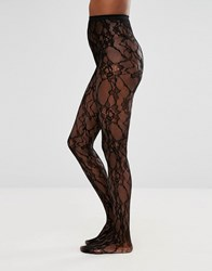 Asos Lace And Net Tights Black