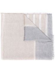 Fabiana Filippi Striped Scarf Grey
