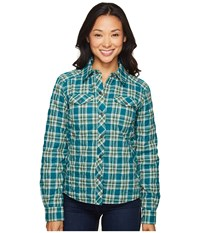 Marmot Riley Insulated Long Sleeve Everglade Women's Long Sleeve Button Up Green