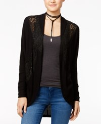 American Rag Lace Contrast Cocoon Cardigan Only At Macy's Black