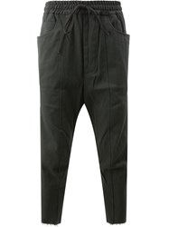 Song For The Mute Cropped Trousers Cotton Carbon Black