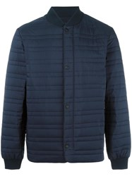 Z Zegna Body Warmer Bomber Jacket Blue