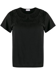 Red Valentino Redvalentino Lace Insert T Shirt 60