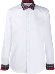 Alexander Mcqueen Checked Details Button Up Shirt White