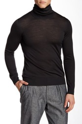 Giorgio Armani Uomo Wool Turtleneck Sweater Gray