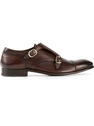 Henderson Fusion Double Monk Strap Shoes Brown